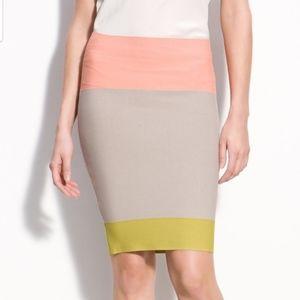 BCBG Scarlet Color Block Bandage Skirt Size M